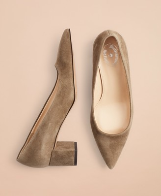 Brooks Brothers Point-Toe Block-Heel Pumps