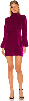 Divine Heritage Mock Neck Mini Dress
