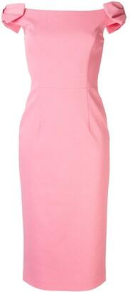 Rebecca Vallance Winslow off-the-shoulder midi dress