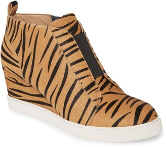 Linea Paolo Felicia III Genuine Calf Hair Wedge Sneaker