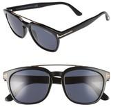 Tom Ford Men's Holt 54Mm Sunglasses - Shiny Black/ Smoke