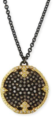 Armenta Old World Diamond Pave Disc Pendant Necklace