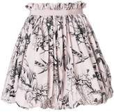 Alexander McQueen floral print bubble mini skirt