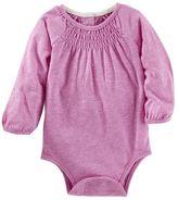 Osh Kosh Baby Girl Smocked Bodysuit