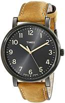 Timex Men's T2N677 Originals Oversized Tan Leather Strap Watch