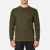 MHI Men's Long Sleeve TShirt Militaire Couvert - Maha Olive