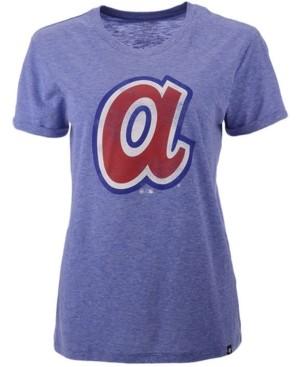 '47 Atlanta Braves Women's Throwback Match Tri-blend Hero T-Shirt