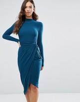 Wal G High Neck Asymmetric Dress