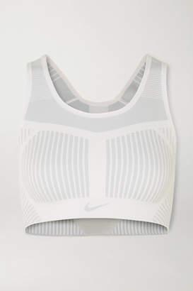 Nike Fe/nom Flyknit Sports Bra - White