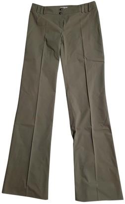 Marella Khaki Cotton Trousers for Women