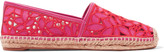 Tory Burch Rhea broderie anglaise leather espadrilles