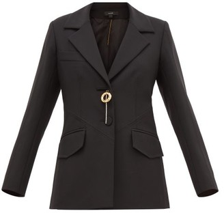 Ellery Cloudy Friday Brooch-embellished Jacket - Womens - Black