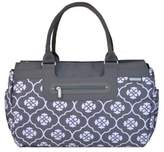 JJ Cole Parker Weekender Diaper Bag in Grey Floret