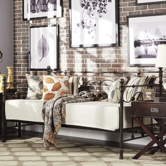 Armillac Twin Daybed Lark Manor Color: Bronzed Black