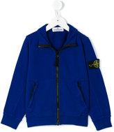 Stone Island Junior - zipped sweat jacket - kids - Cotton - 4 yrs