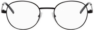 Balenciaga Black Metal Round Glasses