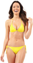 Voda Swim Yellow Envy Push Up String Bikini Top