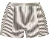 3.1 Phillip Lim Striped Cotton-Blend Jersey Shorts