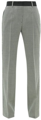 Golden Goose Marta Houndstooth Wool-blend Trousers - Womens - Grey