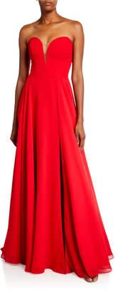 Faviana Strapless Sweetheart Chiffon Gown