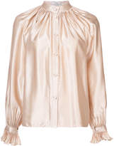 Co metallic button-down blouse