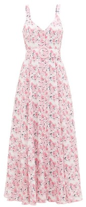 Gül Hürgel Belted Floral-print Linen Dress - Pink Print
