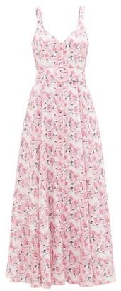 Gül Hürgel Belted Floral-print Linen Dress - Womens - Pink Print