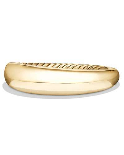 David Yurman 17mm Pure Form Bracelet in 18K Yellow Gold, Size M