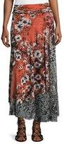 Fuzzi Floral-Print Maxi Skirt