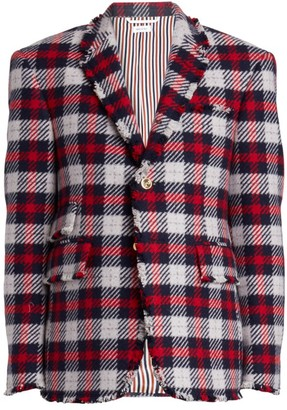 Thom Browne Single Breasted Cashmere Blazer Jacket