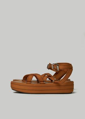 Marni Women's Adventurer Lace Up Sandal in Mustard Size 36