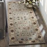 Safavieh Heritage Collection HG864A Handmade Green and Beige Wool Runner, 2-Feet 3-Inch by 12-Feet