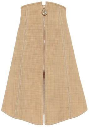 Ellery Natural Wonders cotton-blend midi skirt