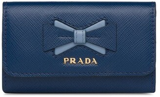 Prada Bow Logo Key Holder