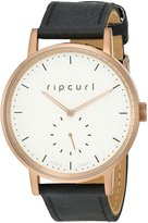 Rip Curl Women's A2887G-BRO Circa Bronze Leather Analog Display Quartz Black Watch