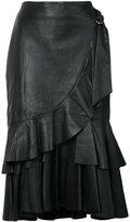Rebecca Vallance ruffled skirt - women - Lamb Skin - 6