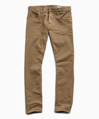 Todd Snyder Slim Fit 5-Pocket Garment-Dyed Stretch Twill in Khaki