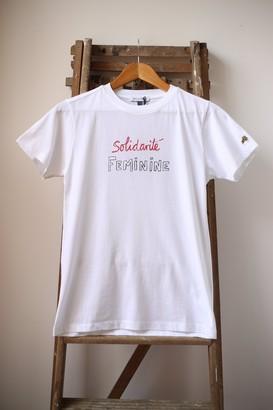 Bella Freud White Solidarite Feminine T Shirt - S
