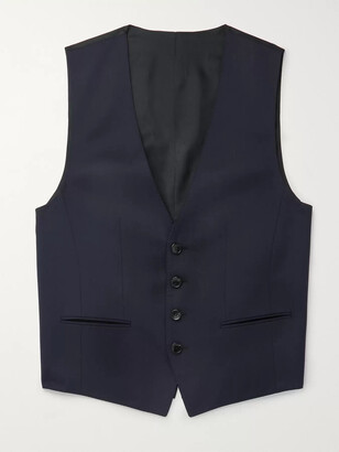 HUGO BOSS Blue Wilson Slim-Fit Super 120s Virgin Wool Waistcoat