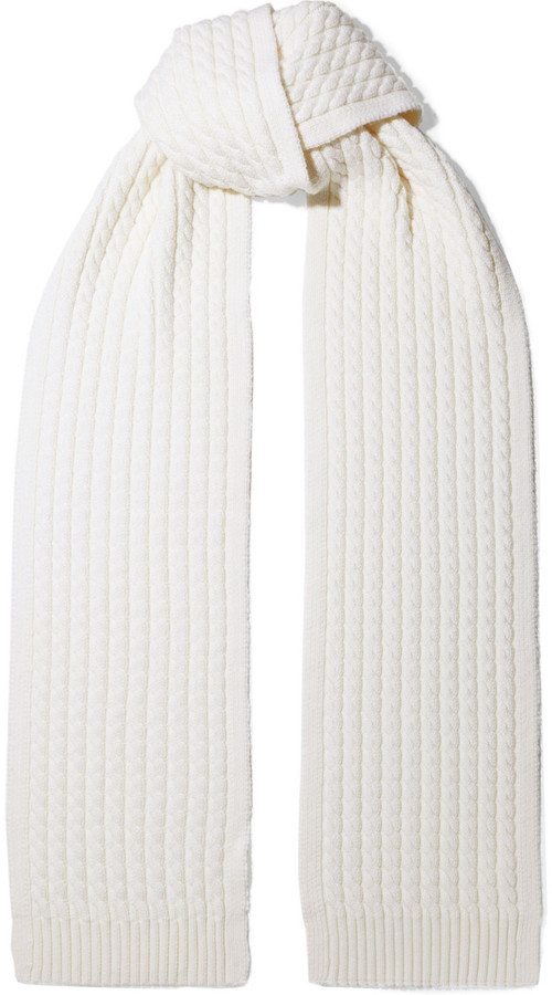 Zimmermann Tempest Cable-knit Merino Wool Scarf