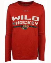 Reebok Kids' Minnesota Wild Authentic Freeze Long Sleeve T-Shirt