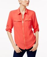 MICHAEL Michael Kors Zip-Front Shirt