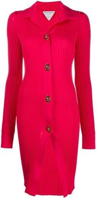 Bottega Veneta Ribbed Long-Length Cardigan