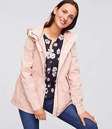 LOFT Petite Hooded Utility Jacket