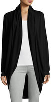 P. Luca Long-Line Cocoon Cardigan, Black