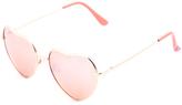 Betsey Johnson Rose & Gold Heart Sunglasses
