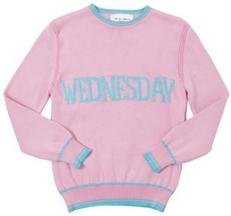 Alberta Ferretti Wednesday Intarsia Cotton Knit Pullover