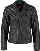Edc By Esprit Faux Leather Jacket Black