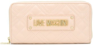 Love Moschino Logo Quilted Continental Wallet