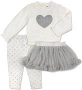 Wendy Bellissimo Cream Heart Sweater & Tutu Set - Infant